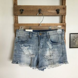 NWT distressed jean shorts